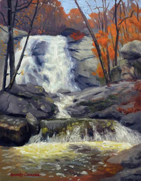 Wall Art - Painting - White Oak Canyon Falls by Armand Cabrera