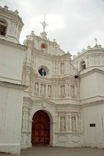 Wall Art - Photograph - White Ornate Entrance To Church by Douglas Barnett