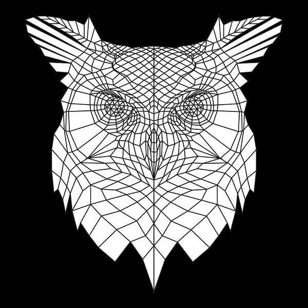 Wall Art - Digital Art - White Owl by Naxart Studio