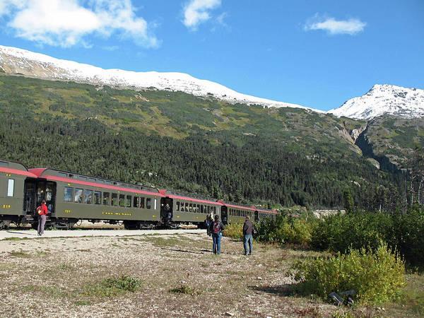 Photograph - White Pass Scenic Railway. Yukon Canada by Connie Fox