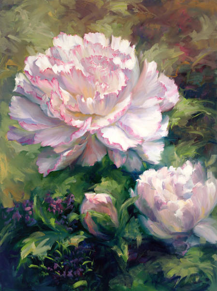 Wall Art - Painting - White Peony I by Laurie Snow Hein