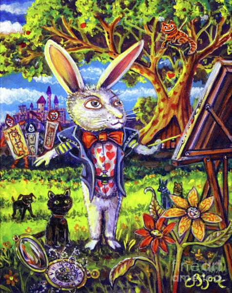 White Rabbit Alice In Wonderland Art Print