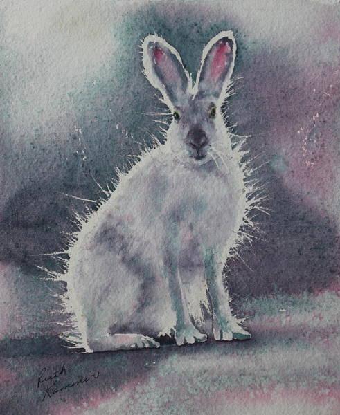 Painting - White Rabbit by Ruth Kamenev