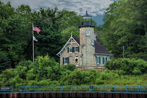 Wall Art - Photograph - White River Lighthouse In Summer By Whitehall Michigan by Randall Nyhof