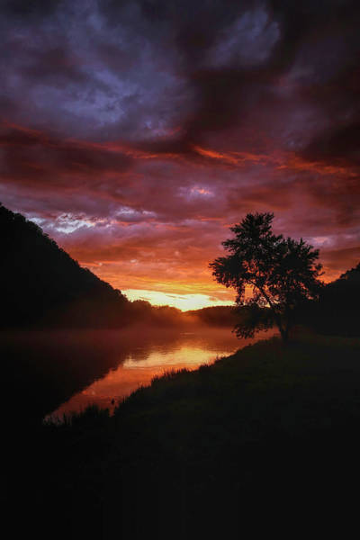 Wall Art - Photograph - White River Sunset Vertical by Judy Vincent