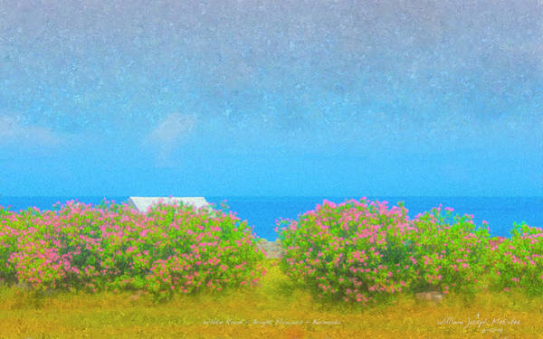 Painting - White Roof - Bright Flowers - Bermuda by Bill McEntee