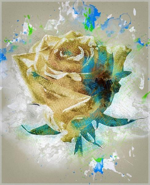 Rose Flower Digital Art - White Rose by ArtMarketJapan