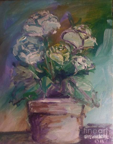 Painting - White Roses by Deborah Nell