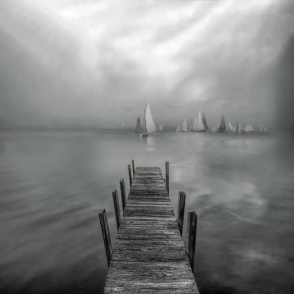 Wall Art - Photograph - White Sails At Dawn by Debra and Dave Vanderlaan