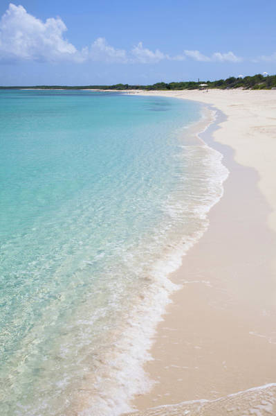 Turks And Caicos Islands Wall Art - Photograph - White Sand Beach With Aqua Colored Ocean by Lisa Romerein