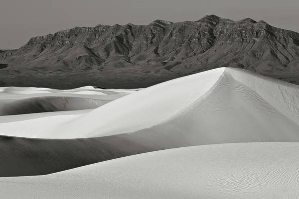 Photograph - White Sands And San Andres Mountains by Robert Woodward