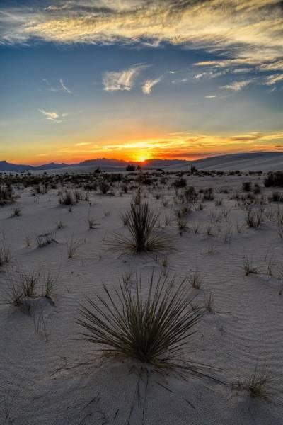 Photograph - White Sands, New Mexico Sunset  by Chance Kafka