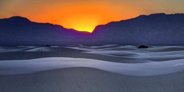 Photograph - White Sands Sunset  by Harriet Feagin
