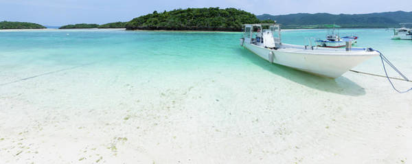 Wall Art - Photograph - White Sandy Tropical Beach With Boats by Ippei Naoi