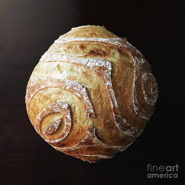 Photograph - White Sourdough With Abstract Scoring Design 2 by Amy E Fraser