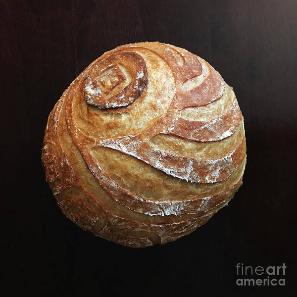 Photograph - White Sourdough With Abstract Scoring Design 5 by Amy E Fraser