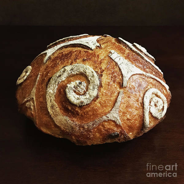 Photograph - White Spiral Scored Sourdough 3 by Amy E Fraser