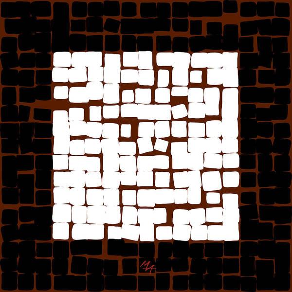 Digital Art - White Square 17x17 by Attila Meszlenyi