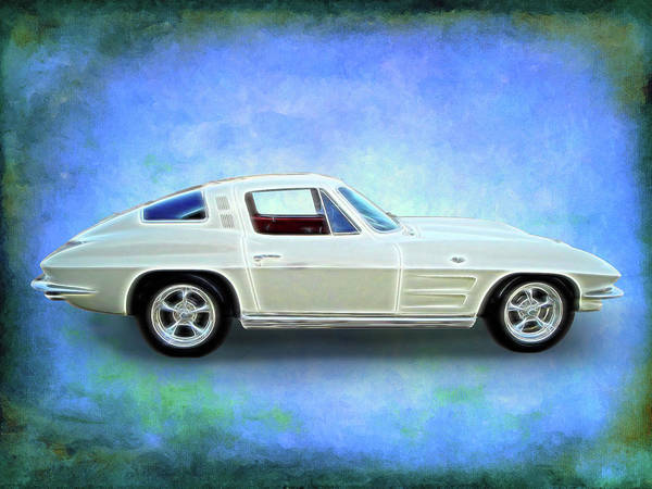 Digital Art - White Vette by Rick Wicker