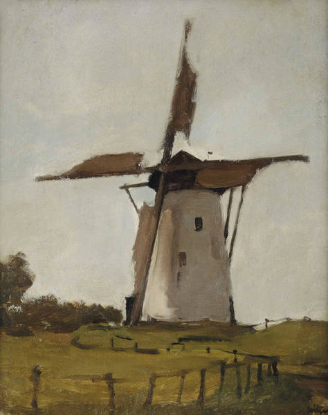 Painting - White Windmill At Wijk Near Duurstede by Willem Witsen
