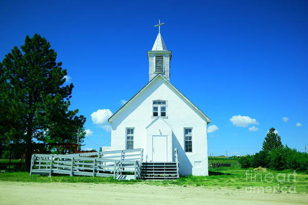 Wall Art - Photograph - White Wooden Church  by Jeff Swan