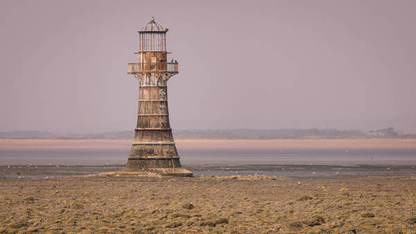 Art Print featuring the photograph Whiteford Point Lighthouse In Pink by Elliott Coleman