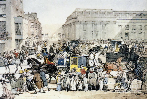Photograph - Whitehall, London C1820 by Granger