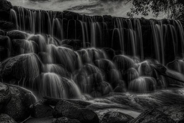 Photograph - Whitnall Park Cascades Bw by Dale Kauzlaric