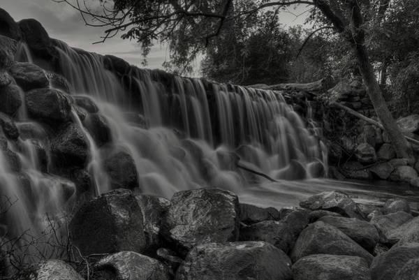 Photograph - Whitnall Park Falls Bw by Dale Kauzlaric