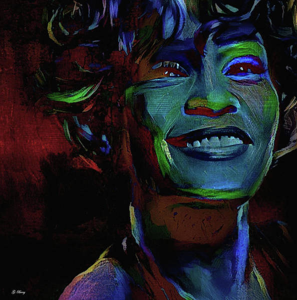 I Love You Mixed Media - Whitney Houston, by G Berry