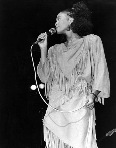 Photograph - Whitney Houston Performing by Raymond Boyd