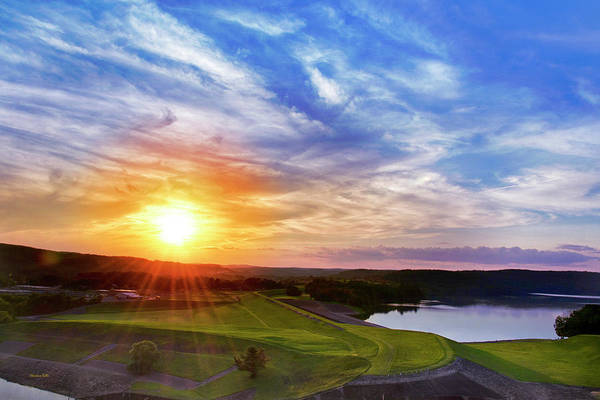 Photograph - Whitney Point Reservoir Sunset Landscape by Christina Rollo