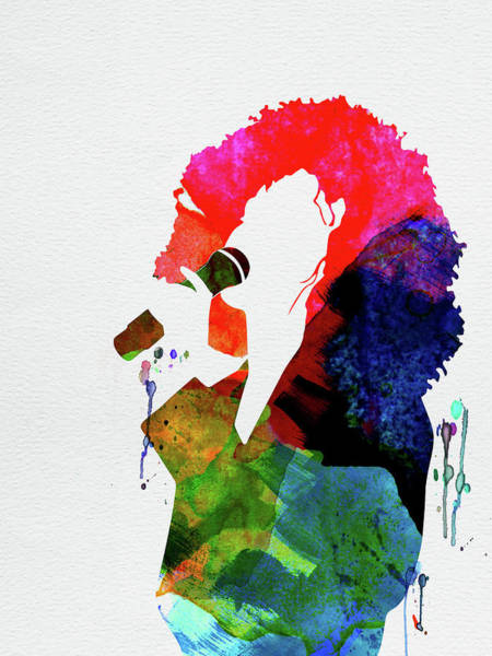 Rock And Roll Mixed Media - Whitney Watercolor by Naxart Studio