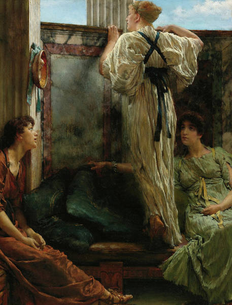 Wall Art - Painting - Who Is It by Lawrence Alma-Tadema