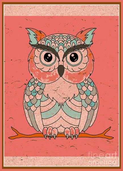 Wall Art - Digital Art - Whooot Owl Digital Art by Diann Fisher