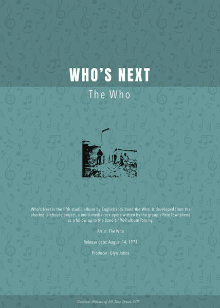 Wall Art - Mixed Media - Who's Next The Who Greatest Albums Of All Time Minimalist Series by Design Turnpike