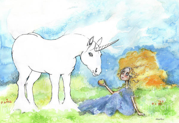 Wall Art - Painting - Why Don't You Color My Unicorn By Yourself by Angel Ciesniarska