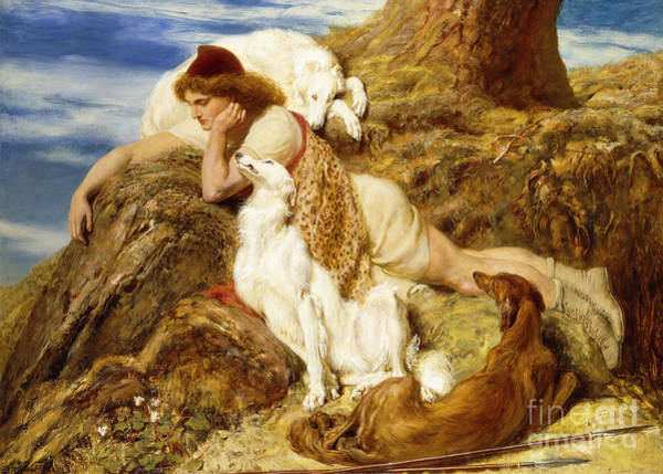 Snuggle Painting - Why Should Our Young Endymion Pine Away by Briton Riviere