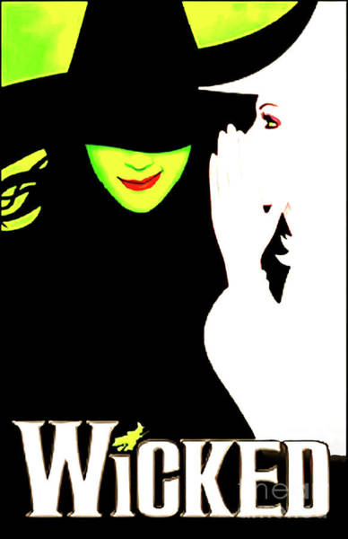 Wicked Witch Digital Art - Wicked Broadway by Carles Mob