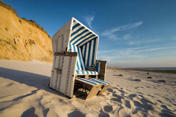 Wall Art - Photograph - Wicker Beach Chair by Jorg Greuel