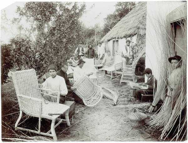 Craftsperson Photograph - Wicker Workers by Hulton Archive
