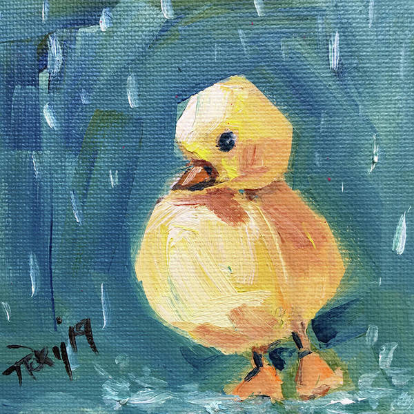 Wall Art - Painting - Widdle Waddle by Roxy Rich