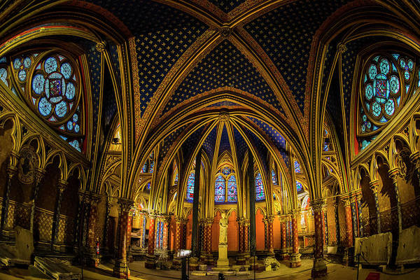 Chapelle Photograph - Wide Angle View Of The Lower Chapel by Panoramic Images