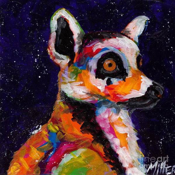 Wall Art - Painting - Wide Eyed And Bushy Tailed by Tracy Miller