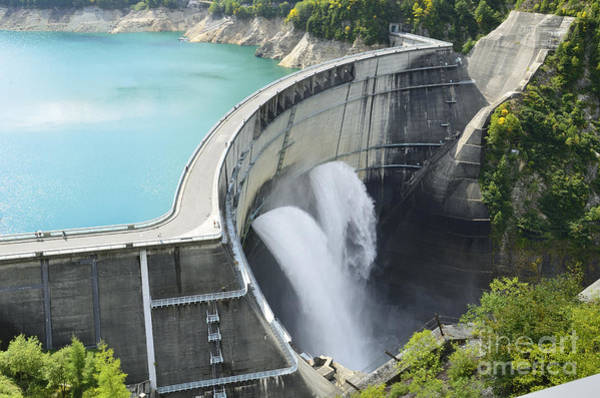 Wall Art - Photograph - Wide View Of A Large Dam In Japan by Kpg payless