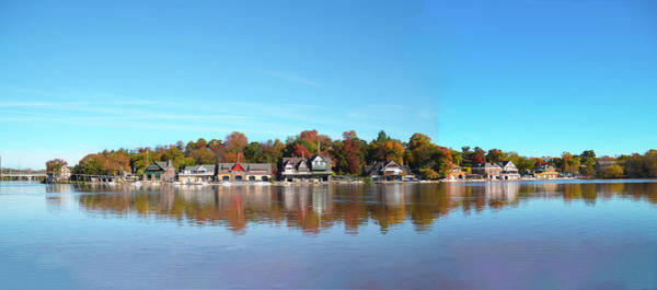 Photograph - Wide View Of Boathouse Row by Bill Cannon