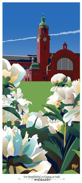 Wiesbaden Hauptbahnhof Art Print