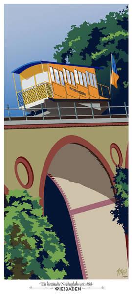 Wiesbaden Nerobergbahn Art Print