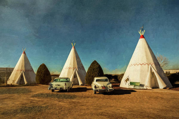 Digital Art - Wigwam Hotel by Lou Novick