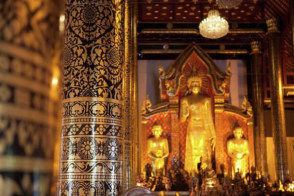 Chiang Mai Province Photograph - Wihan Luang, Wat Phra Singh, Chiang by Christine Wehrmeier